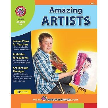 eBook: Amazing Artists, Grades 6-8 (PDF version, 1-User Download), ISBN 978-1-55319-167-4