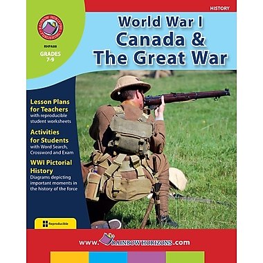 World War I: Canada & The Great War, anglais, 7e à 9e années, livre num. (téléch. 1 util.), ISBN 978-1-55319-066-0