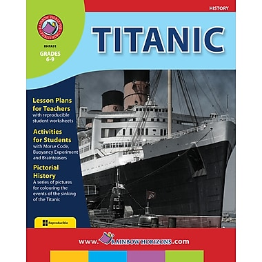 eBook: Titanic, Grades 6-9 (PDF version, 1-User Download), ISBN 978-1-55319-069-1