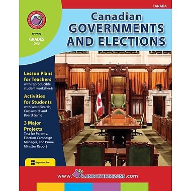 Canadian Governments and Elections, 5e à 8e années, ISBN 978-1-55319-071-4