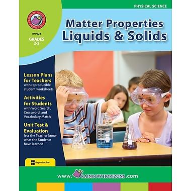 Matter Properties: Liquids & Solids, anglais, 2e et 3e années, livre num. (téléch. 1 util.), ISBN 978-1-55319-122-3