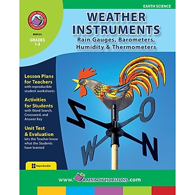 Weather Instruments: Rain Gauges, Barometers, Humidity & Thermometers, 1re à 3e années, livre num. (téléch. 1 util.), anglais