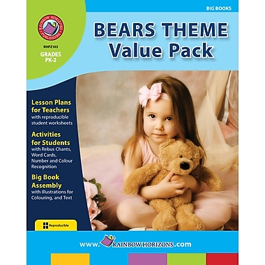 eBook: Bears Theme VALUE PACK, Grades PK-2 (PDF version, 1-User Download), ISBN 978-1-55319-304-3