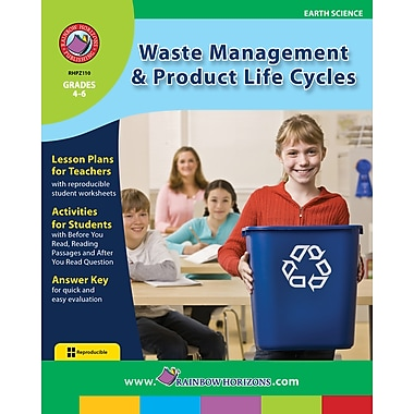 eBook: Waste Management & Product Life Cycles, Grades 4-6 (PDF version, 1-User Download), ISBN 978-1-55319-440-8