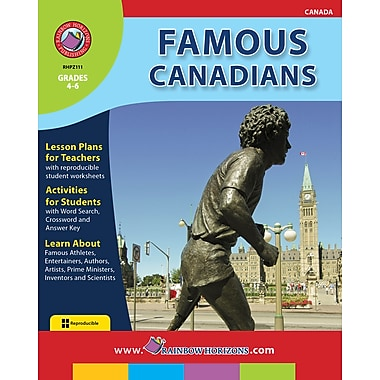 eBook: Famous Canadians, Grades 4-6 (PDF version, 1-User Download), ISBN 978-1-55319-439-2