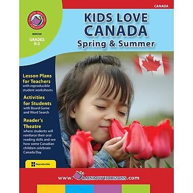 Kids Love Canada: Spring & Summer, anglais, maternelle à 2e année, livre num. (téléch. 1 util.), ISBN 978-1-55319-278-7
