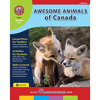 Awesome Animals of Canada, 2e et 3e années, ISBN 978-1-55319-203-9