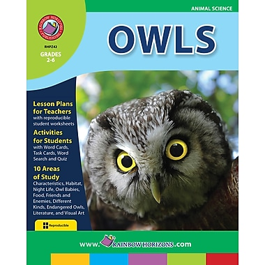 eBook: Owls , Grades 2-6 (PDF version, 1-User Download), ISBN 978-1-55319-250-3