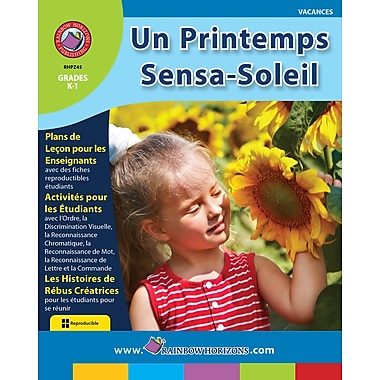 eBook: Un Printemps Sensa-Soleil, Grades K-1 (PDF version, 1-User Download), ISBN 978-1-55319-271-8