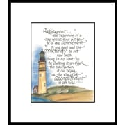LPGGreetings Life Lines Retirement by Lori Voskuil-Dutter Framed Graphic Art