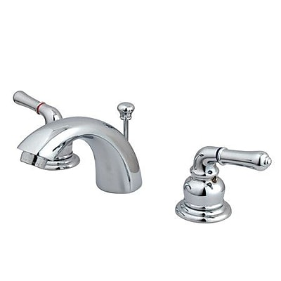 Kingston Brass Magellan Widespread Bathroom Faucet w/ ABS Pop-Up Drain; Polished Chrome