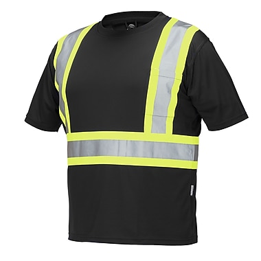 Forcefield Short Sleeve Safety Tee, Black, Xlarge