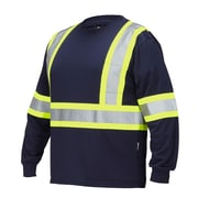 Forcefield Long Sleeve Safety Tee, Navy