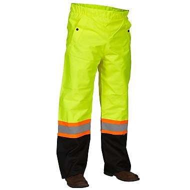 Forcefield Safety Rain Pant, Lime, 2XL