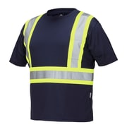 Forcefield Short Sleeve Safety Tee, Navy, 4XL