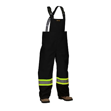 Forcefield Safety Rain Overalls, Black, 2XL
