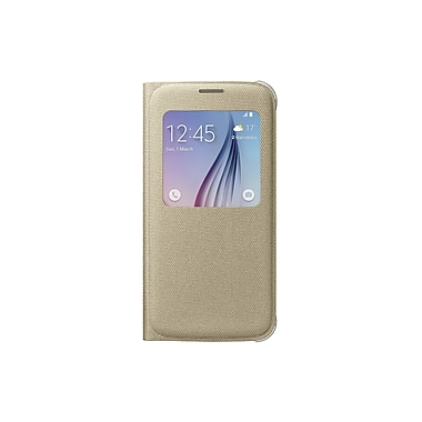 Samsung S View Cover for GS6 (Fabric), Gold