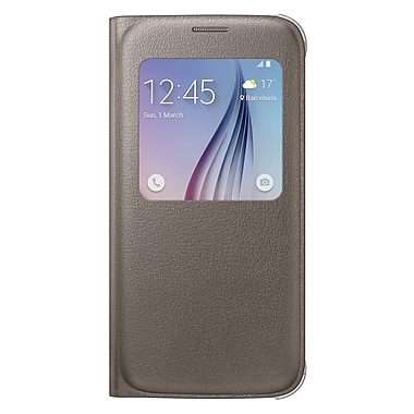 Samsung S View Cover for GS6 (PU), Gold