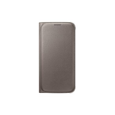Samsung – Étui portefeuille pivotant pour le GS6 (PU), doré