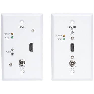 Tripp Lite HDMI Over Cat5 Active Wallplate Extender Kit, (B126-1A1-WP)