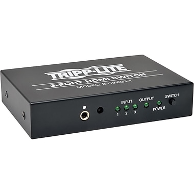 Tripp Lite 3-Port HDMI Switch for Video and Audio