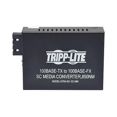 Tripp Lite – Convertisseur média multimode 10/100 SC, 550M, 850 nm, 1 réseau (RJ-45), 1 x port SC, 10/100Base, (N784-001-SC-MM)