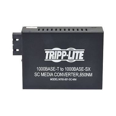 Tripp Lite 10/100/1000 SC Multimode Media Converter, 550M, 850nm, 1 x Network (RJ-45), 1 x SC Ports, 10/100/1000Base