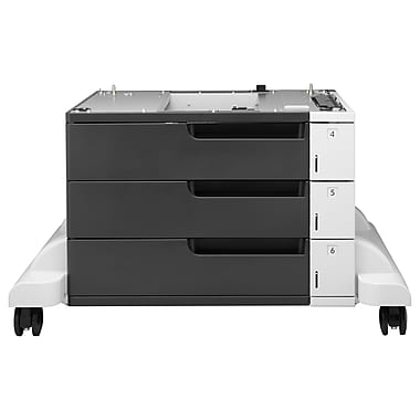 HP LaserJet 3x500-sheet Feeder and Stand, 1500-Sheet, (CF242A)