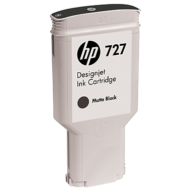 HP 727 Ink Cartridge, Inkjet, Matte Black, (C1Q12A)