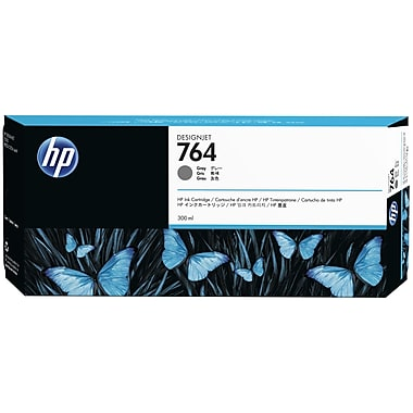 HP 764 Ink Cartridge, Gray, (C1Q18A)