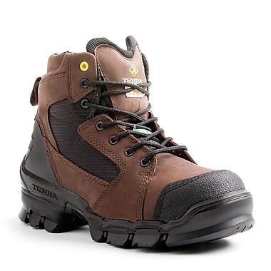 Terra – Chaussures de travail Zephyr pour hommes, 6 po, brun, taille 14