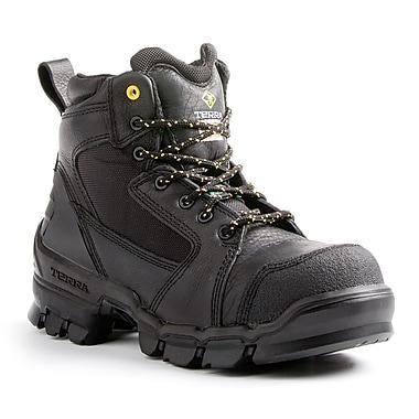 Terra – Chaussures de travail Zephyr pour hommes, 6 po, noir, taille 10