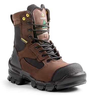 Terra – Chaussures de travail de 8 po Aerial pour hommes, brun