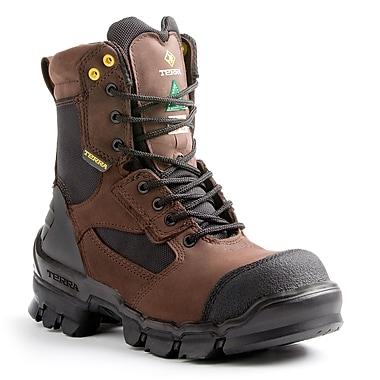 Terra – Chaussures de travail Aerial pour hommes, 8 po, brun clair, taille 11