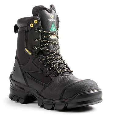 Terra – Chaussures de travail de 8 po Aerial pour hommes, noir
