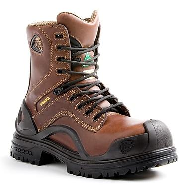 Terra – Chaussures de travail de 8 po Bridge pour hommes, brun