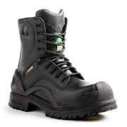 Terra – Chaussures de travail de 8 po Bridge pour hommes, noir