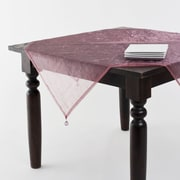Saro Crushed Tissue Tablecloth; Dusty rose