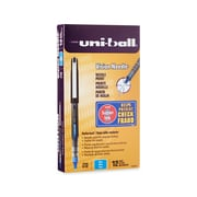uni-ball® Vision™ Needle Rollerball Pens, Fine Point, Blue, Dozen (1734904)