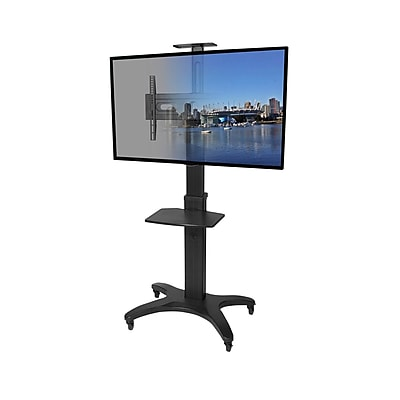 Kanto MTMA55PL Mobile TV Mount with Adjustable Shelf for 32-inch to 55-inch TVs
