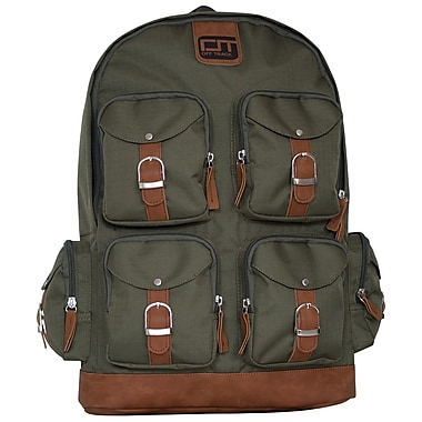 Offtrack Backpack, 6 Pockets, Kaki