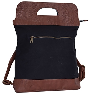 Motiv – Mallette de style sac à main, noire et brune, pour ordinateur portatif