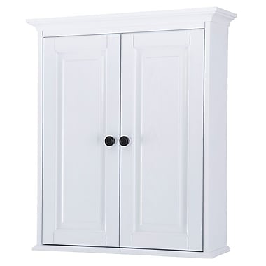Foremost – Armoire murale Coll. Hastings, 2 tablettes int. ajustables, syst. de fixation Secure-MountMC 25 po, fini chêne blanc