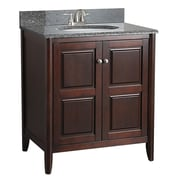 "Foremost 30"" Vanity, Tobacco Finish, 2 Doors, Assembled Vanity, Top and Faucet Not Include"