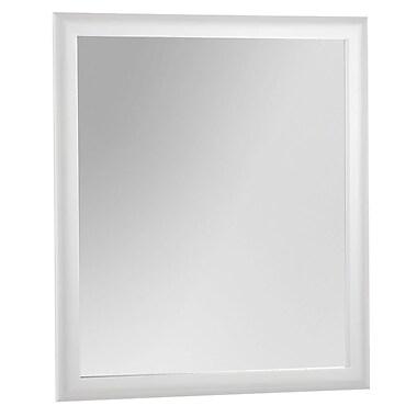 Foremost – Miroir de 27 po, fini blanc, crochets pour suspendre préfixés