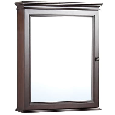 Foremost – Armoire à pharmacie Coll. Shawna, 2 tablettes int. ajustables, syst. de fixation Secure-MountMC 23 1/2 po, fini tabac