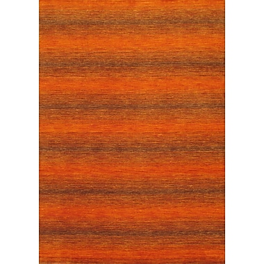 Torabi Rugs Gabbeh Rug, Orange, 5'7