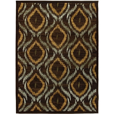 Torabi Rugs Stella Rug, Dark Brown, 5'5