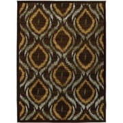 "Torabi Rugs Stella Rug, Dark Brown, 5'5"" x 7'8"""