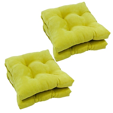 Blazing Needles Outdoor Dining Chair Cushion (Set of 4); Mojito Lime